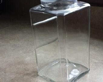 Large Old Glass Jar