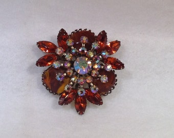 Topaz and Ab Judy Lee Brooch