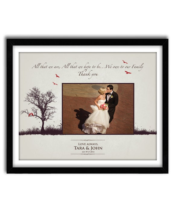wedding gift parents for parents of bride and groom thank you mom and