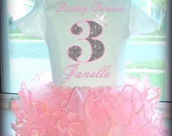 Princess Birthday Tutu - Pink Sparkle Tutu