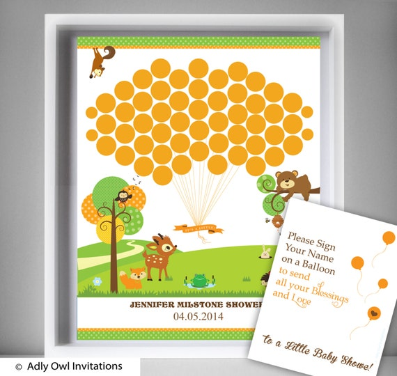 Forest Animals Guest Book Printable Alternative and Forest Animals ...
