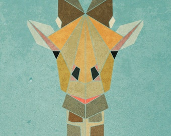 GIRAFFE   Limited Edition Print  A3 (11.7 X 16.5)  with border