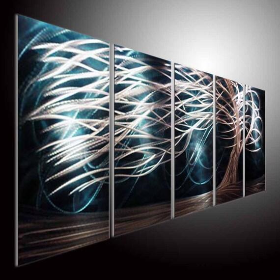Original Bright Metal Wall Art Modern 3D Painting Sculpture Indoor