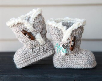 Crochet Baby Booties PDF pattern #3