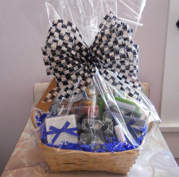 Men's Deluxe Bath Basket Gift for Men Man gift basket