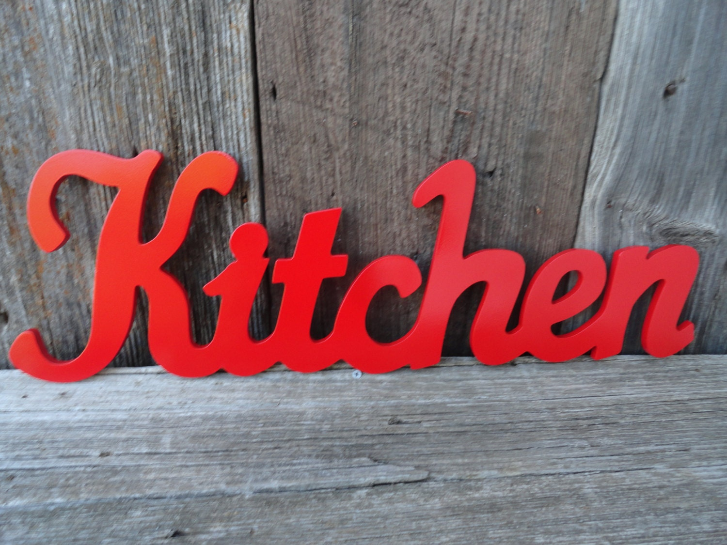 Kitchen wall decor apple red kitchen wall sign dining room for Red kitchen wall art