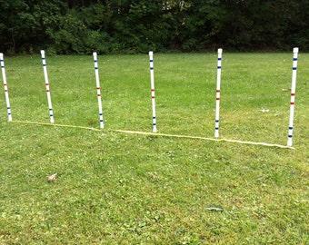 Dog Agility Equipment Weave Poles-Set of six