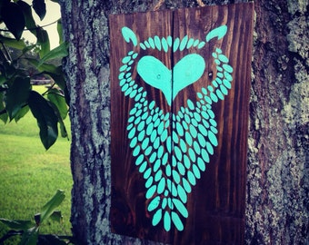 Hand Painted Pallet/Reclaimed wood Owl sign