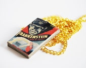 Frankenstein's mini book necklace