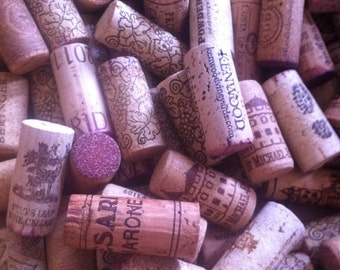 100. used Wine corks  / recycled corks /  natural corks .