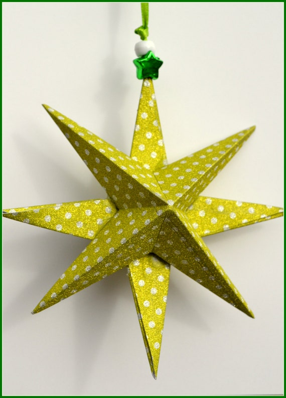 Christmas stars 3d xmas decor xmas ornament xmas by pricklypaw for 3d star christmas decoration