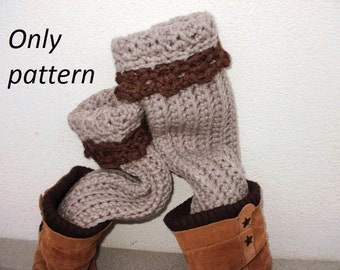 pdf crochet pattern leg warmers