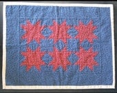 Quilted Table Runner Topper 8 Point Star