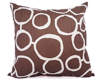 Two Brown Pillow Covers - Brown Throw Pillow Covers - Decorative Pillow - 12x16 12x18 14x14 16x16 18x18 20x20 22x22 24x24 26x26 Pillow Sham