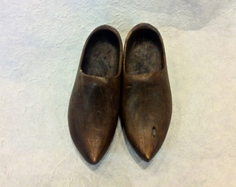 Vintage Little French Wooden Shoes - World War I or Great War Era