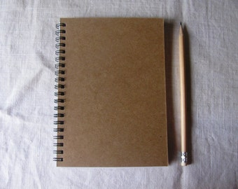 Blank Chipboard (kraft only) Cover Journal - 5 x 7 journal