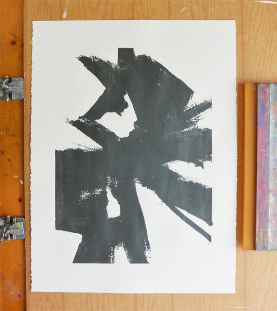 Abstract Sketch 1 - Large Dark Grey