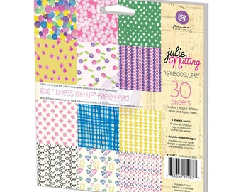 """New Prima Julie Nutting  30 Sheets of 6x6"""" """"Dress Me Up"""" Paper Pad 910877"""