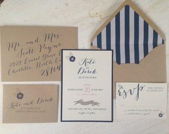 Kate + Derek Vintage Invitation Suite // Purchase this Deposit to Get Started
