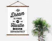 BUY 2 GET 1 FREE Typography Print, Type Poster, Motivational Poster, Black White, Hustle, Black Friday - Hustle Sold Separately