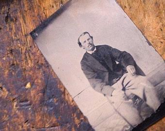 ANtique Tintype Photo - Civil War Vet
