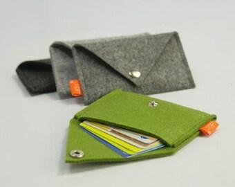 Felt Personalized Credit Card Case Sleeve Business Cards Holder Keeper Card Holder Cards Bag E505-MGra01