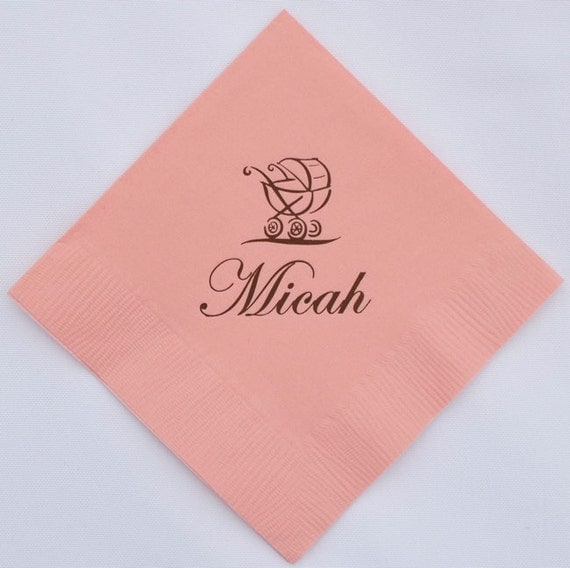 baby shower napkins set of 100 personalized baby shower napkins