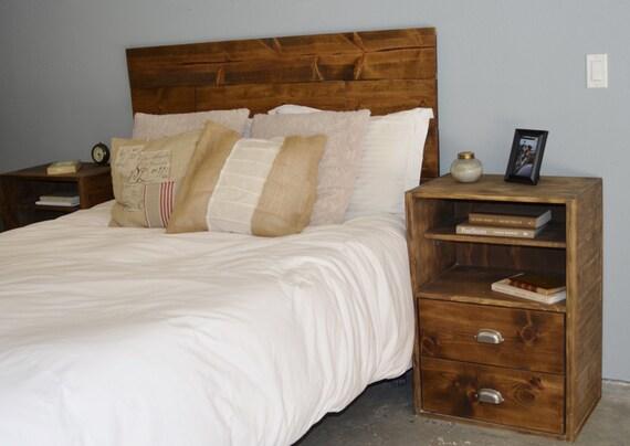 Chambre à coucher rustique bois tête de lit et par  ~ Tete De Lit Bois Rustique