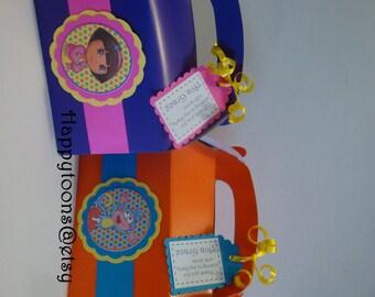 Dora the Explorer favor boxes - set of 12. Birthday party
