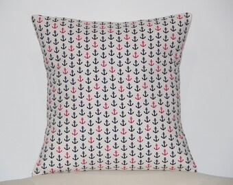 Nautical pillow. Pillow cover and pillow insert