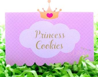 Princess Printable Menu Label
