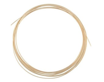 14/20 Yellow Gold Filled Round Wire, 24ga, Half Hard , 3 Feet Wholesale BULK Gold Filled Wire, Wire Wrapping