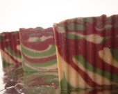 Christmas Soap - Sleigh Ride Soap - Cold Process Soap - Shea Butter Soap - Stocking Stuffers