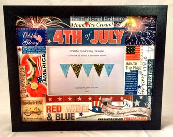 Fourth of July Collage Picture Frame