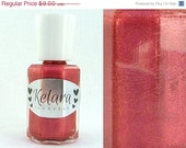 SALE Mars Full Size Nail Polish - Earthy Red Shimmer