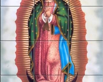 Ceramic Tile Mural Virgen de Guadalupe #2