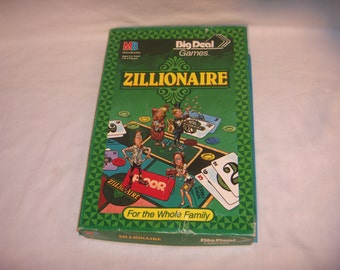 ZILLIONAIRE GAME Big Deal Games by Milton Bradley 1987 Rare