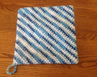 Crochet 100 % cotton pot holders