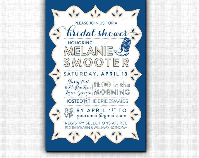 LACE BRIDAL SHOWER - 5x7 Invitation