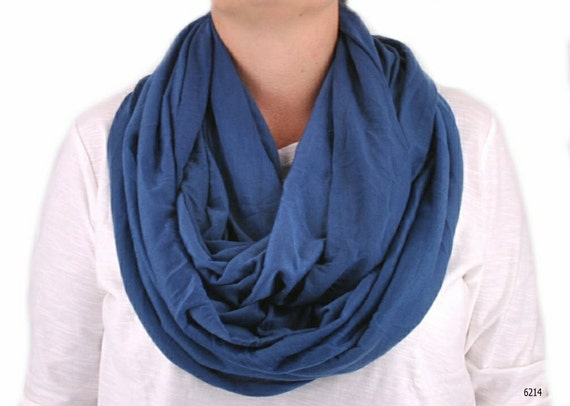 blue scarf infinity scarf lightweight scarf by