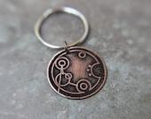 Custom Gallifreyan Doctor Who Name Keychain