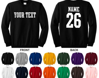 Sweatshirt and names | Etsy
