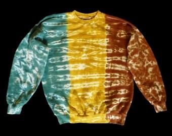 Tie-dye crewneck sweatshirt:  long sleeved adult L