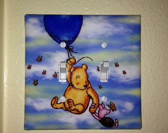 Winnie the Pooh and Piglet Double Lightswitch Cover