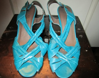 Vtg.Amalfi Slingback Heels Size 8.5 M. Made In Italy