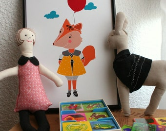 Baby Fox Print.