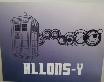 Doctor Who - Allons-y Postcard