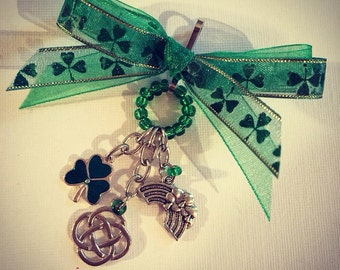 Custom made purse charms/keychain Ireland/ St Patricks theme