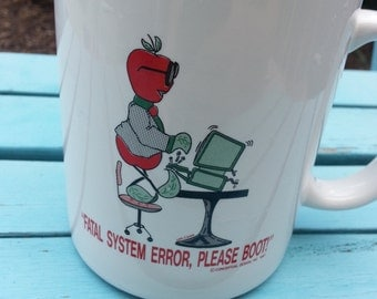 1987 Coffee Mug - Apple Computer Software - Great Retro Gift for Techie