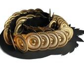 Gold Gladiator Metal Elastic Belt